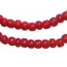 Red White Heart Beads