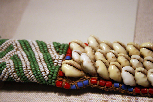 A Royal African belt decorated with cowrie shells. Quinn Dombrowski/ Flickr